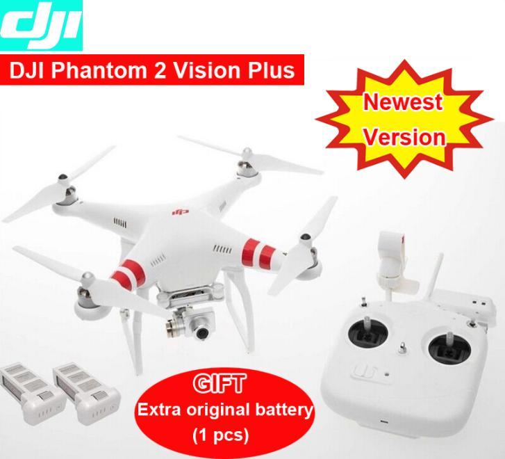 DJI Phantom 2 Vision plus with extra original Battery GPS Drone RC Quadcopter 5.8G Radio FPV Camera 3 aix gimba via EMS(China (Mainland))