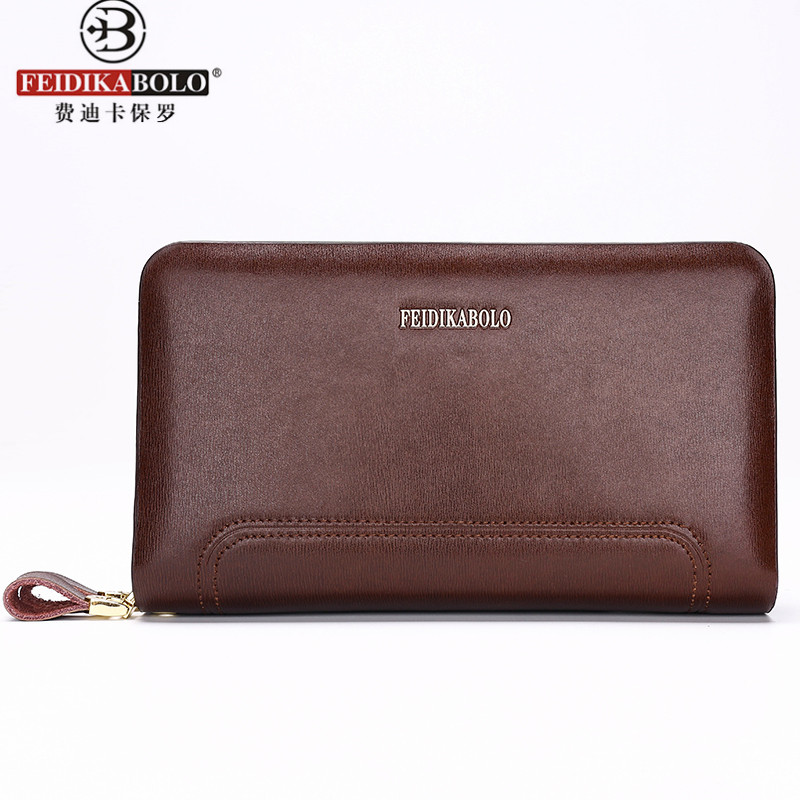 FD BOLO Brand Wallets Man Leather Purse Wallets Bags Clutch Monederos Mannen Portefeuilles Leer Men Wallet Zipper Pocket Money(China (Mainland))