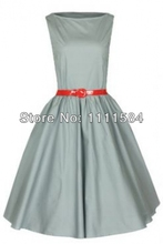 free shipping New Style Women Sexy 50's Rockabilly Swing Evening Pin Up Prom Retro Dress Size S-6XL for women(China (Mainland))