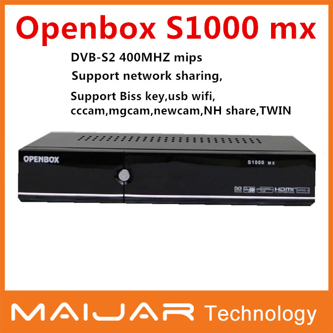 Hot Cheap Openbox S1000 MX HD Satellite Receiver With DVB-S2 openbox Support CCcam NEWcam MGcam Biss Key system 1080P Full HD(China (Mainland))