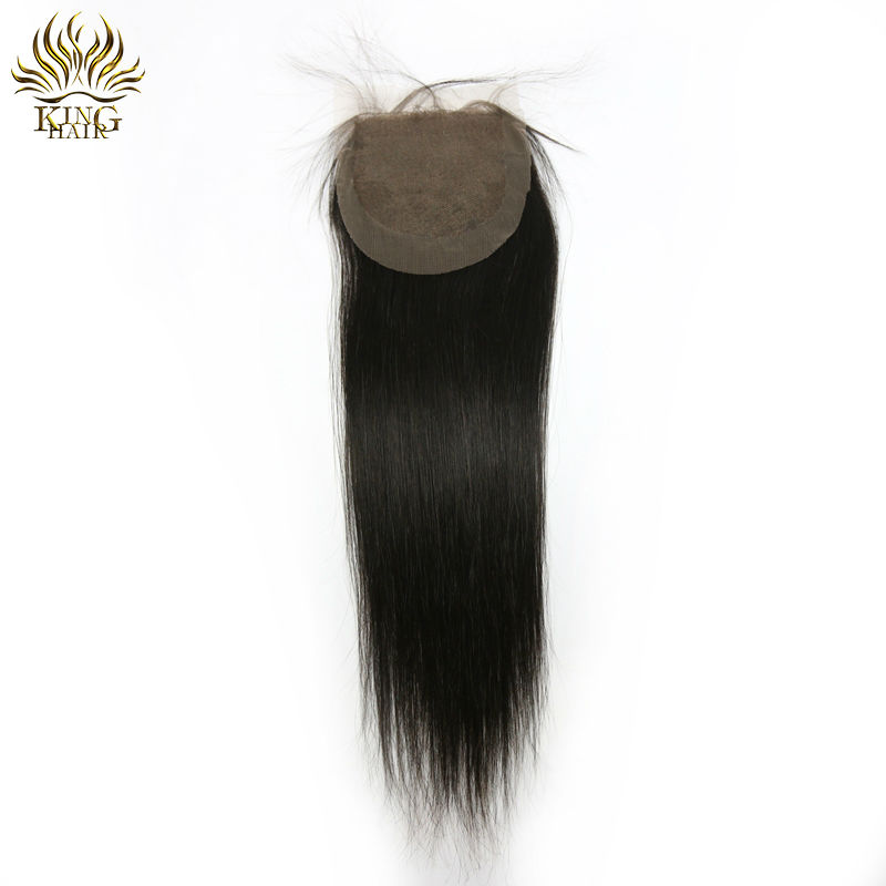 Brazilian virgin hair straight lace closure grade 7a bleach knot 4x4 size natural looks<br><br>Aliexpress