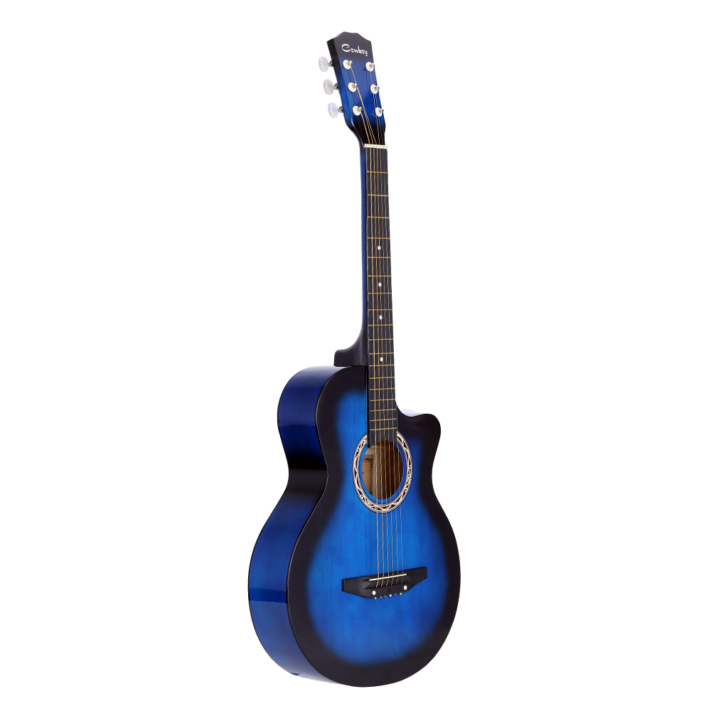 "High Quality 38"" Guitar Guitarra 38"" Acoustic Folk Guitar Durbale 6-String Basswood Guitar Black Blue Red Purple for Option(China (Mainland))"