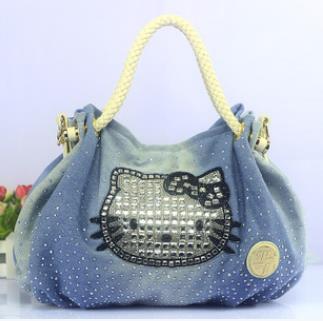 Hot Selling ! 2016 new arrival high quality hello kitty bag lady's women's diamond handbag CC12-2(China (Mainland))