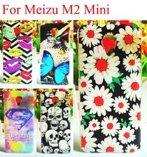 10 Types Painting Meizu M2 Mini Case Cover Cartoon Hard Plastic Protector Skin For Meizu M2 Mini 5.0 inch Cases Shell Housing