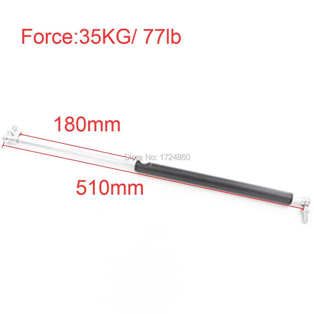 180mm Stroke 35KG/77lb Force Auto Gas Spring Strut Damper Spring M8 Gas Springs 510mm Gas Strut Shock Lift Prop for Automotive(China (Mainland))