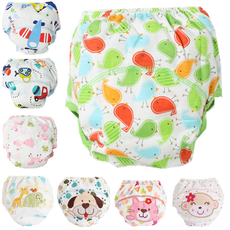 1Pcs Cute Baby Cotton Training Pants Baby Reusable Diapers Cloth Diaper Washable Infants Nappies Diapers(China (Mainland))