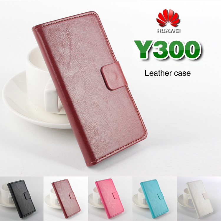 Huawei Y300 Case Cover,Flip Case For Huawei Y 300 Case Cell Phone Shell Back Cover With Card Holder + Free gift(China (Mainland))