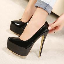 Four season women pumps high heels 2016 fashion pointed toe women shoes thin heels pumps Red bottom sole high heels nude pumps