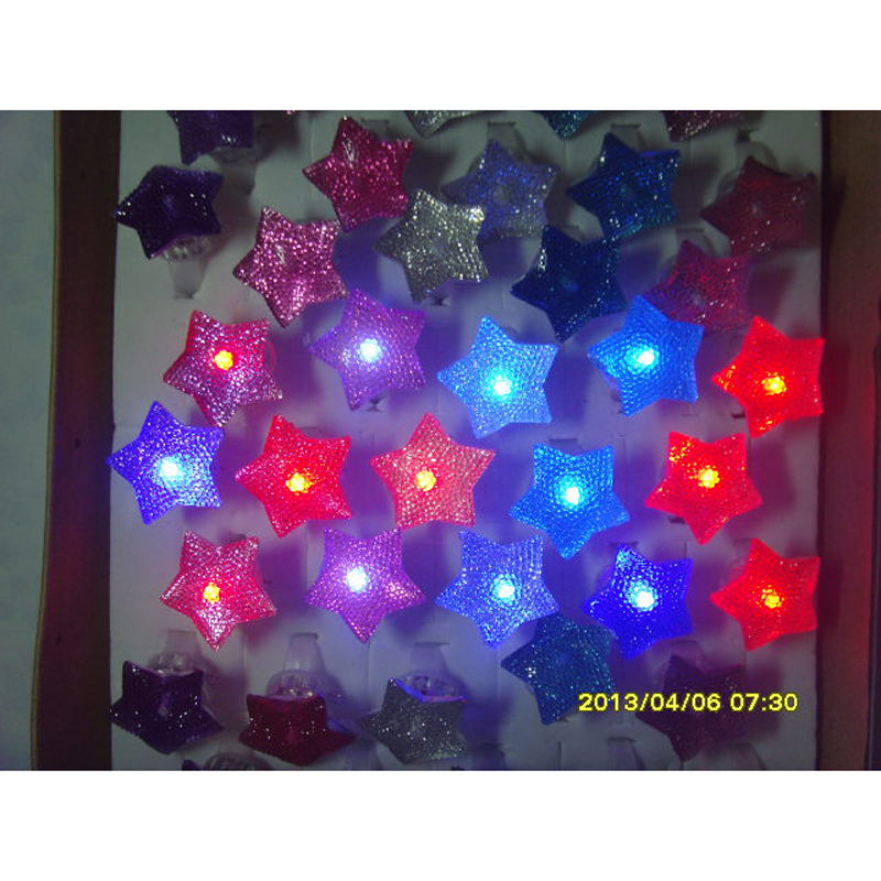 (50 pieces/lot) Flash Ring Light-Up Toy Flash Finger Light Led Flash Ring Colorful Flash Finger Light(China (Mainland))