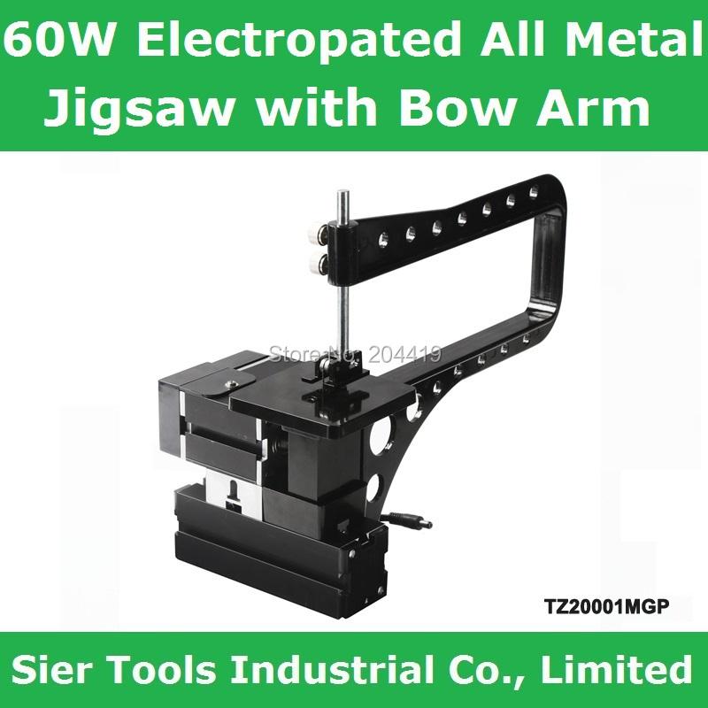 60W,12000rpm Electroplated All Meta Bow-Arm Jigsaw/TZ20001MGP Electroplating Big Power jigsaw with bow arm/instructional saw(China (Mainland))