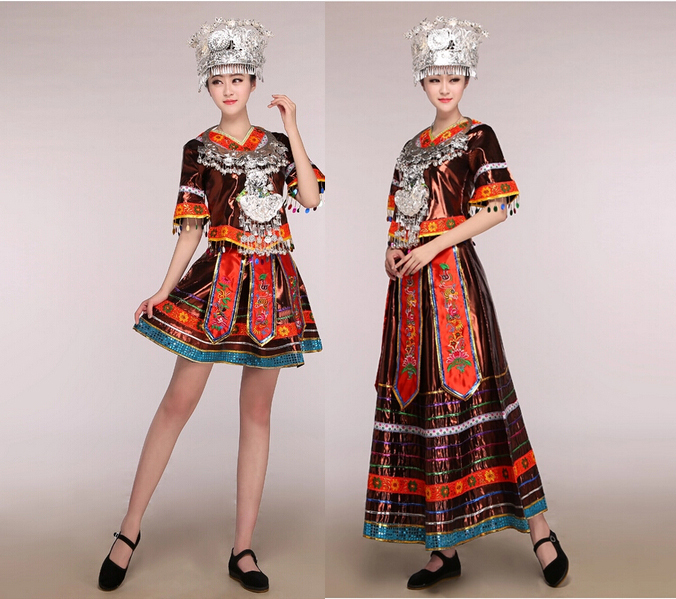 Buy free shipping dance singer costume hmong clothes miao clothing