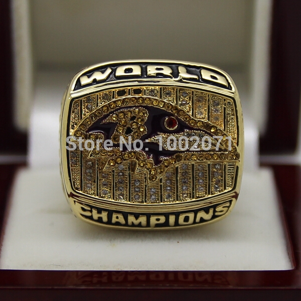 (3 pieces/lot) 2000 Baltimore Ravens Super Bowl Football Championship Rings Best Fan Gift for Men Jewelry 18k Gold Plated(China (Mainland))