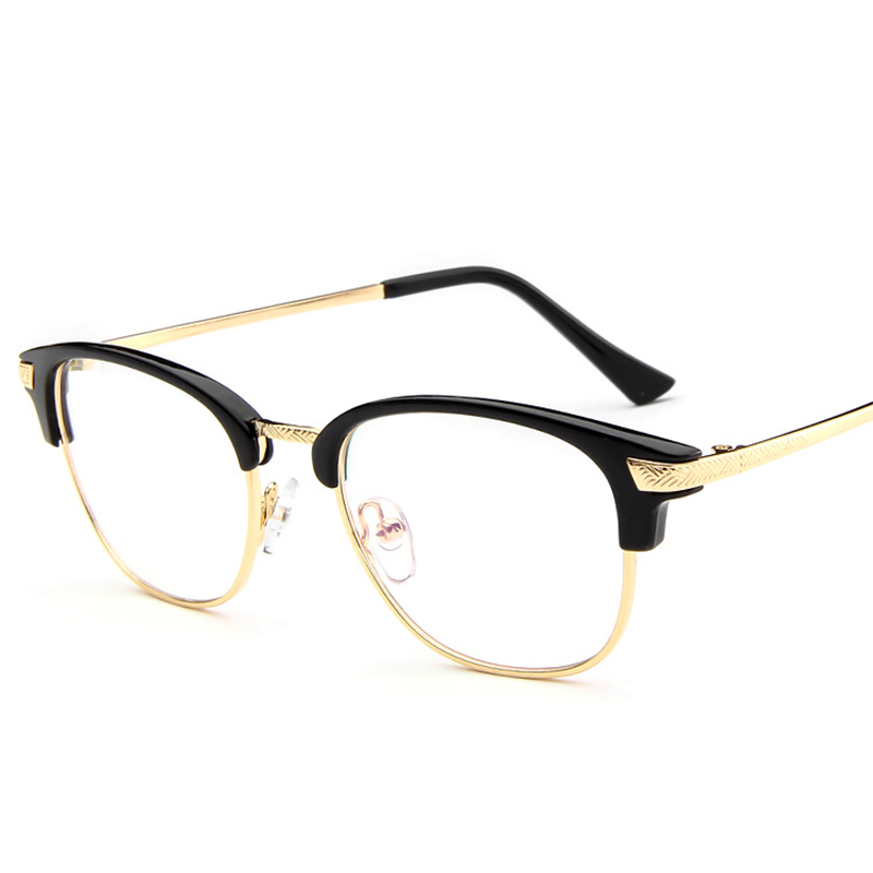 Unisex 2016 Round Semi Rim Eyeglasses Fashion Glasses ...