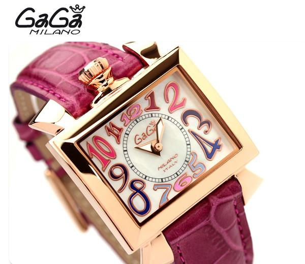 2014 Fashion GaGa brand women square colorful dial genuine leather band dress watch - Shenzhen D&T Shop store