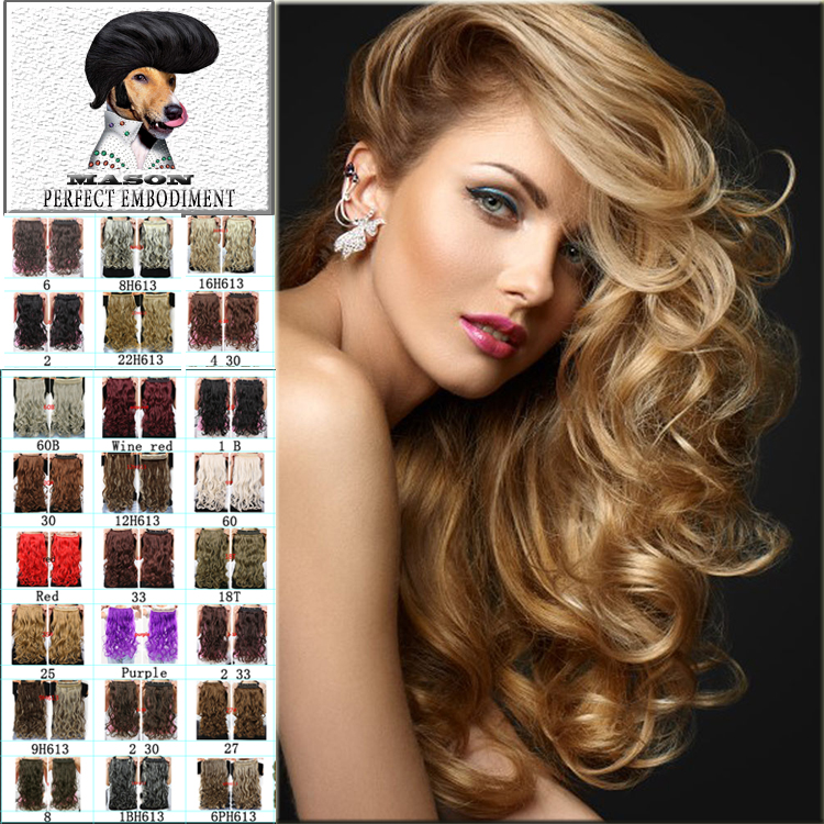 2Fashion Hair Extensions 2015 New free shipping Ponytails 5 Clip In Ponytail Hair Extension Hair 20 Colors For Beauty Women(China (Mainland))