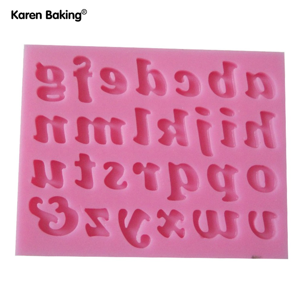 26 Lower-Alpha English Letters Silicone 3D Mold Cookware Dining Bar Non-Stick Cake Decorating C185(China (Mainland))