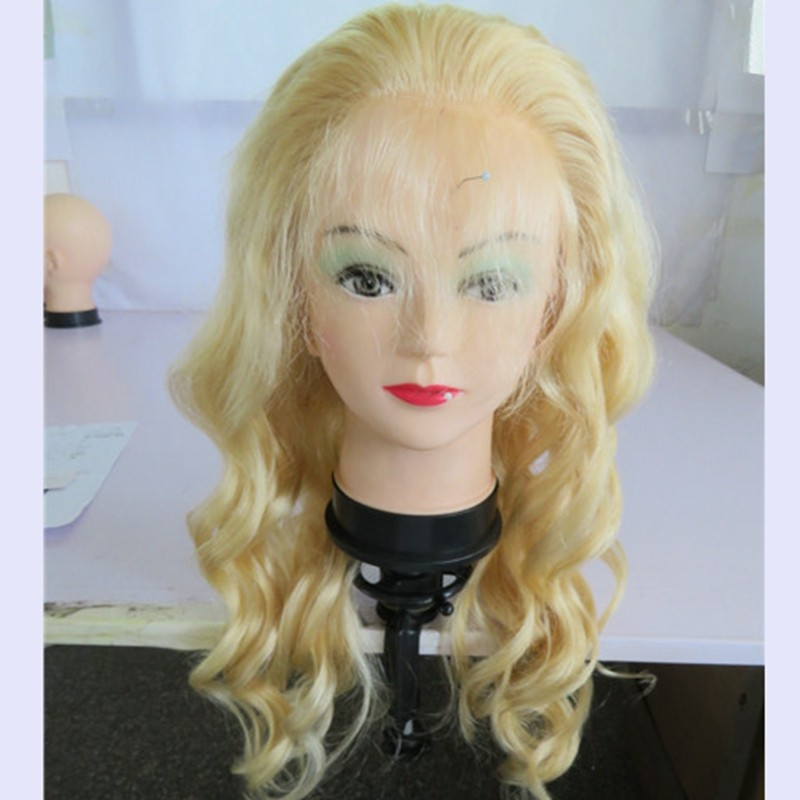 10A Top Quality Lace Front Blonde Human Hair Wigs Virgin Brazilian Blonde Full Lace Human Hair Wigs 613 Glueless Full Lace Wig