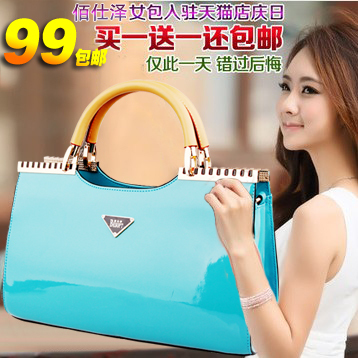 Bags 2013 women's japanned leather handbag the bride bridesmaids package women's patent leather handbag(China (Mainland))