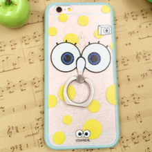 For 6 6s Ring Phone Case Cartoon Silk Protective Case cute fashion 2016 lovely cellphone shell