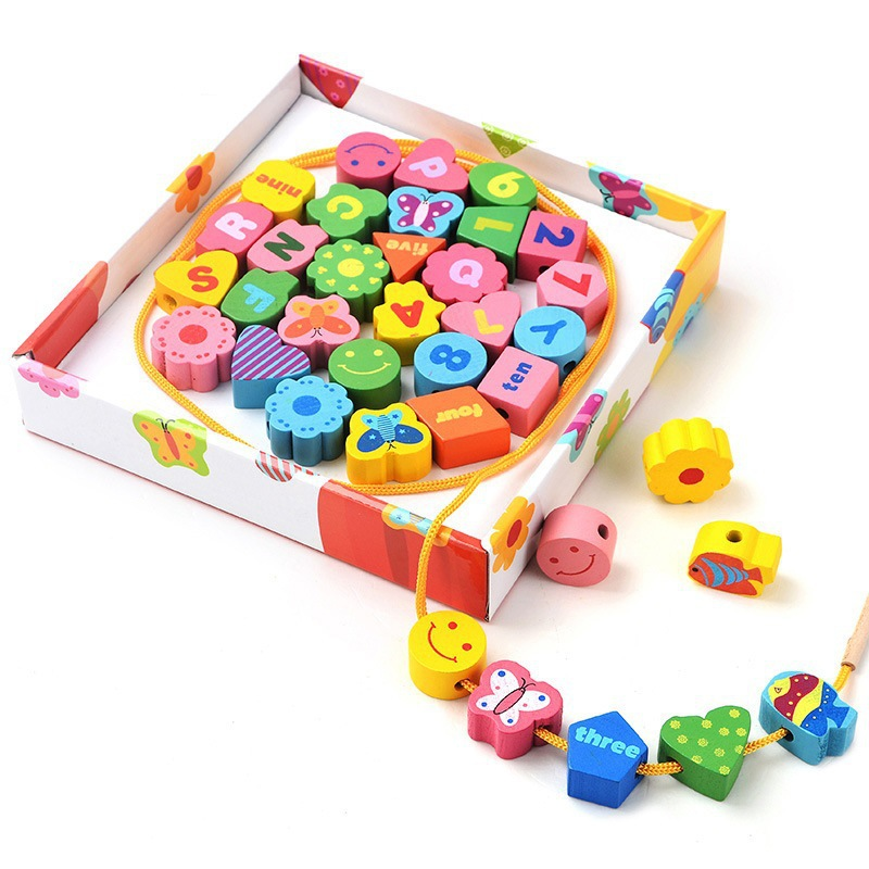 36pcs preschool wooden montessori mathematics math for Materials for kids