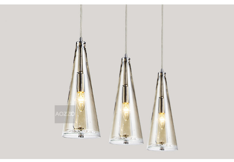 Dining Room Glass Contemporary Crystal Pendant Lights-inPendant Lights ...