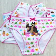 Super deal Russian cartoon girl panties cotton children panties girl underwear girl clothing multi color fit 3-12y(China (Mainland))