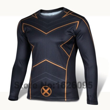 Men Compression Long Sleeve O-Neck Sports Tight T Shirts Fast Drying Fitness Base Layer Tops XS-4XL New Arrival(China (Mainland))