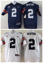 New Top Quality College Football Jerseys,Auburn Tigers #2 Cam Newton Blue White,Stitched Logos(China (Mainland))