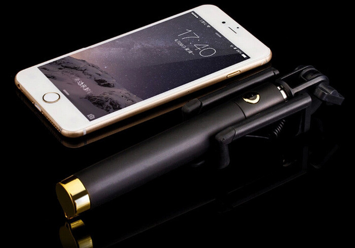 image for Luxury Universal Selfie Stick Monopod For Iphone 6 Plus 5s Wired Palo