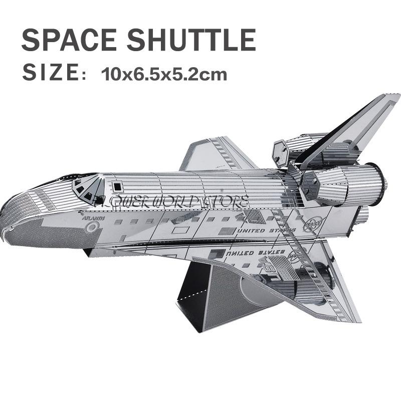 New Creative 3d Puzzles 3d Metal Model Space Shuttle