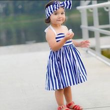 Buy Dresses 2016 New Children Girl Kids Toddler Baby Princess Party Striped Headband Blue Tulle Ball Tutu Dress Girl 1 2 3 4 5Y for $4.80 in AliExpress store