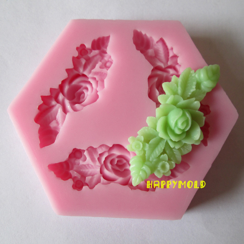 Three Long flower resin molds fondant mold,silicone mold ...