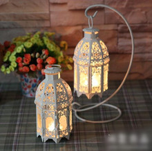 European-style garden-style factory outlets with hook iron lantern Candlestick birthday wedding gifts(China (Mainland))
