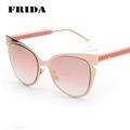 FRIDA 2016 Fashion Cat Eye Sunglasses Women Brand Designer Classic Sun glasses Men Oculos de sol UV400 10 Colors