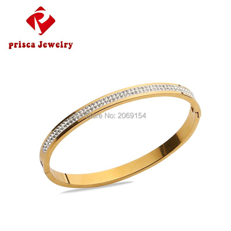 Women Charm Chain Link Bangle 2016 Gold Bracelet Fashion Jewelry Stainless Steel Wristband Titanium Link Chain Trendy Design(China (Mainland))