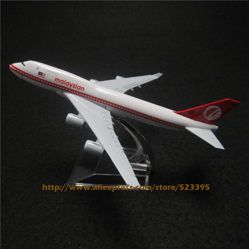 16cm Alloy Metal Air Malaysian Airlines Airplane Model Boeing 747 B747 200 Airways Plane Model Airplane Collection(China (Mainland))