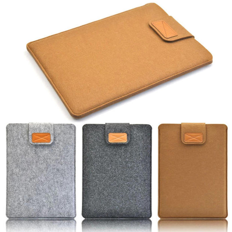 New Casual Style Woolen Felt Laptop Sleeve Bag Cover Case For Computers Best Protective sleeve,DT-10,Free shipping(China (Mainland))