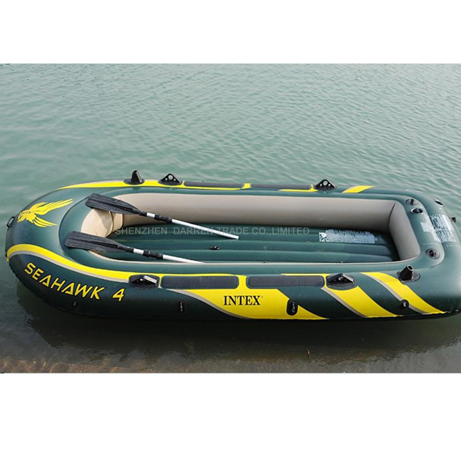 inflatable boat rowing boat fishing boat 4person for drifting with oars,pumps,and carry bag(China (Mainland))