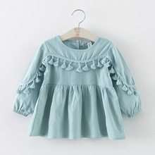 new 2016 spring autumn tassel baby dresses girl clothes casual toddler girls party dress suit 2~7 age newborn dress for girls(China (Mainland))