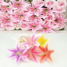 Buy 10pcs 17cm Large Silk Lily Artificial Flower Head Wedding Car Decoration DIY Garland Decorative Floristry Fake Flowers for $3.56 in AliExpress store
