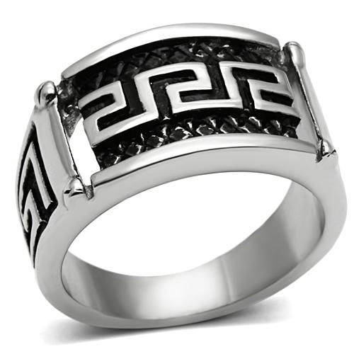 Men Stainless steel Ring black epoxy vintage spinner ring Europe and United states style Full size Free shipping(China (Mainland))
