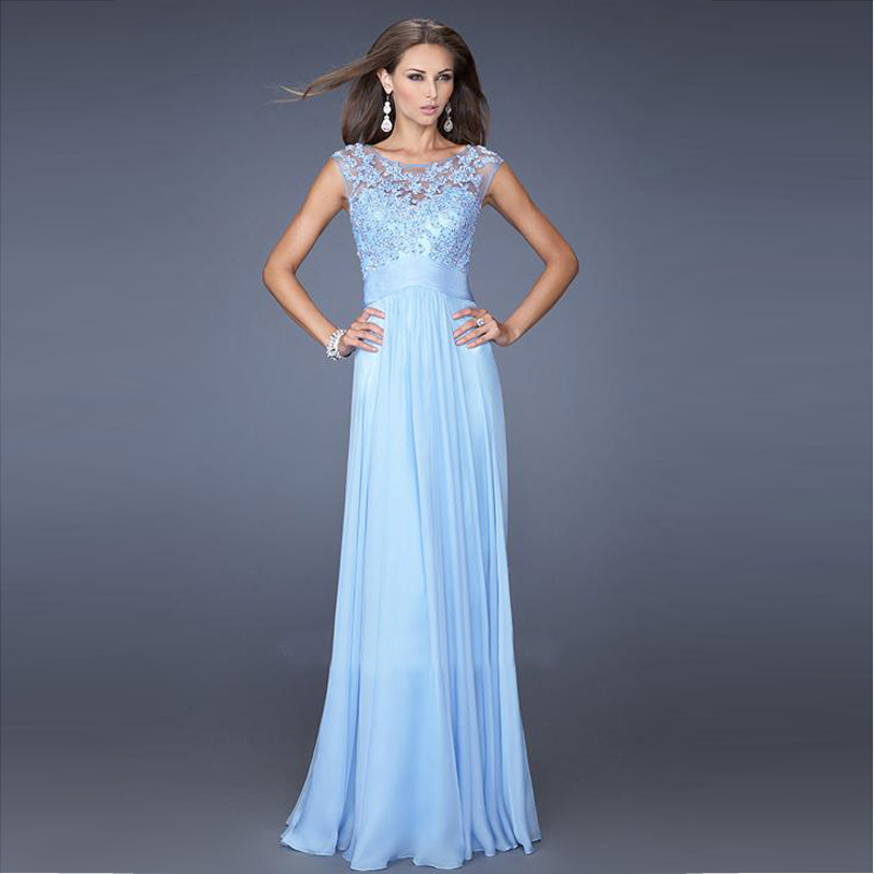 Light Blue Evening Dresses - RP Dress