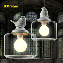 Retro art glass chandelier lamps