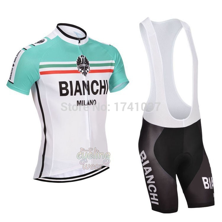 wholesale Bianchi team Men's Bike Suits/Cycling Jersey Shorts/summer outdoor Bicycle Short Sleeve Clothing BIB free shipping(China (Mainland))