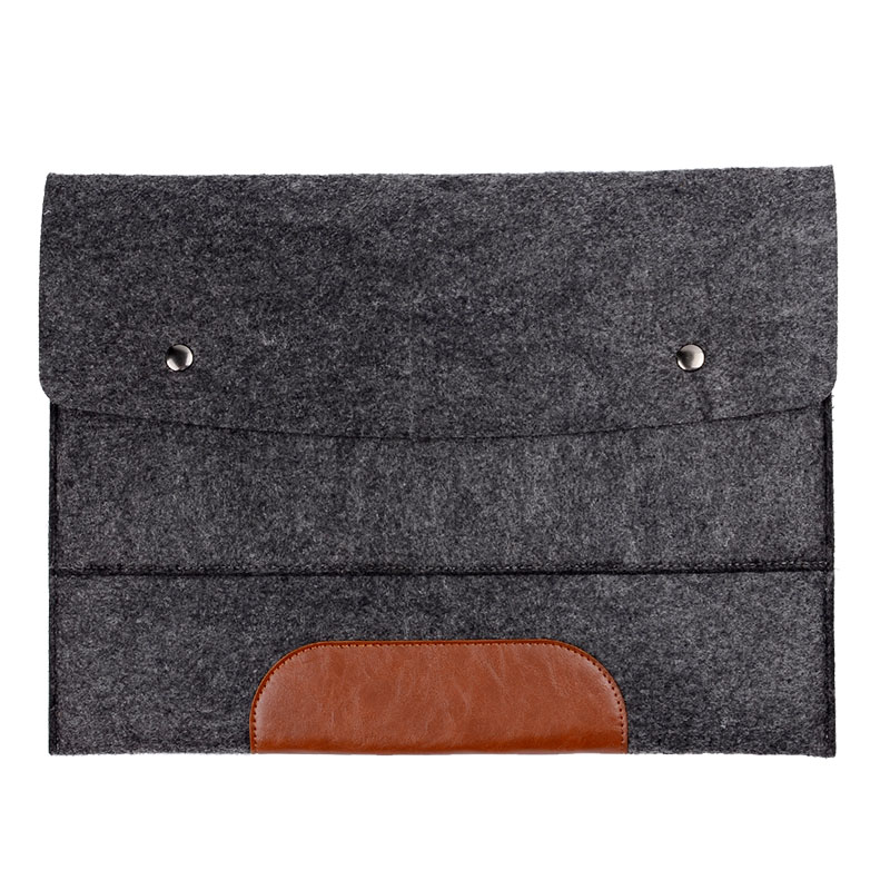 Hot Fashion Leather Folder Felt Document Organizer Bag File Bags Office Supply Customized - Bststone Store store