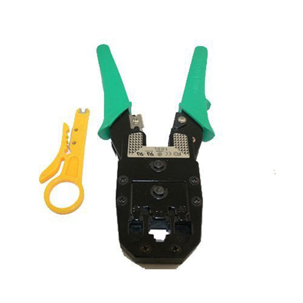 Network LAN Cable Tester RJ45 RJ11 RJ12 Cat5 + Crimper(China (Mainland))