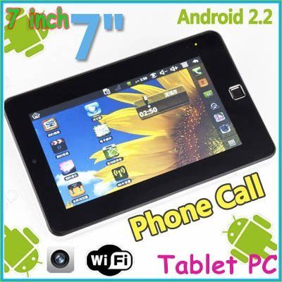 FreeShipping!!!7 inch VIA 8650 Android 2.2 Wifi Camera phone Tablet PC Phone Call MID support flash 10.1