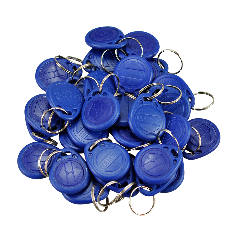 New Blue Waterproof 100pcs/lot RFID Cards 125Khz EM ID RFID Card TK4100 Chip Keychain For Time Attendace system/Access System<br><br>Aliexpress