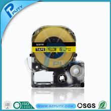 Compatible SC6YW 6mm Black On yellow Kingjim Tepra Tape Cartridge