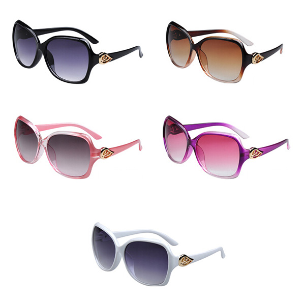 Summer Outdoor UV Protection Sun Glasses Colourful Female oculos de grau zonnebril Large Frame Sunglass(China (Mainland))